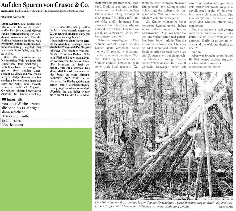 Zeitungsartikel Rhein-Sieg-Anzeiger, April 2011