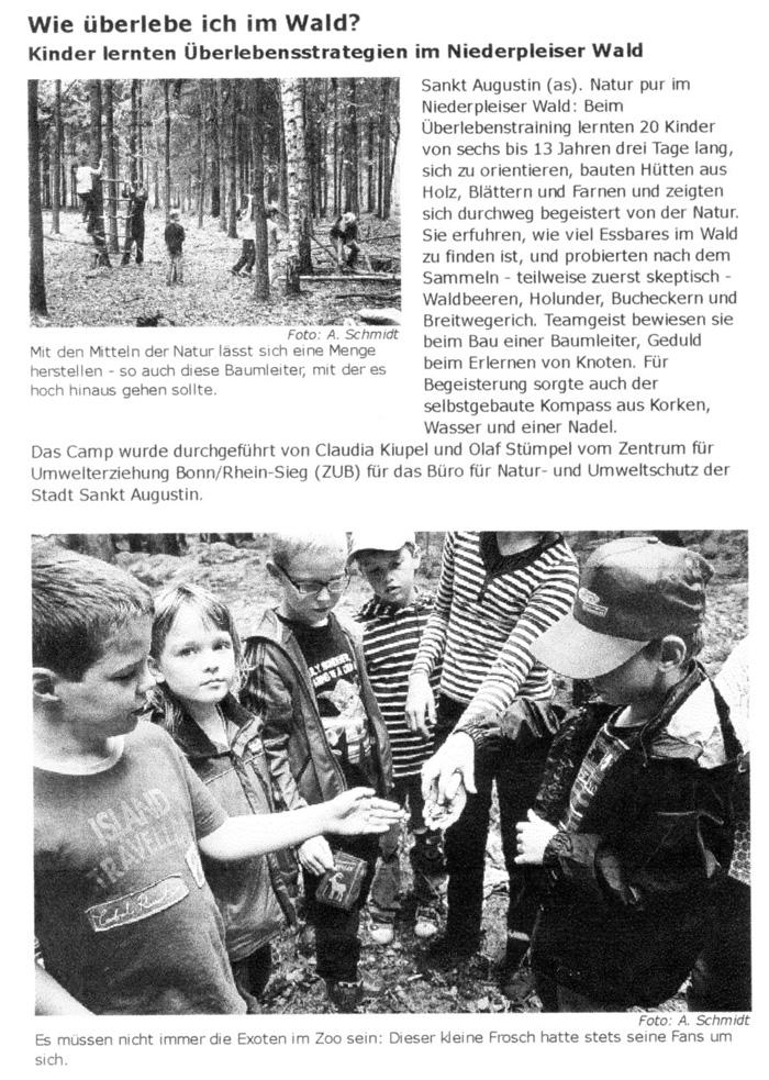 Zeitungsartikel Extra-Blatt, August 2013