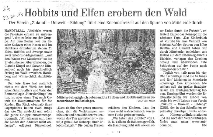 Zeitungsartikel Generalanzeiger, April 2014