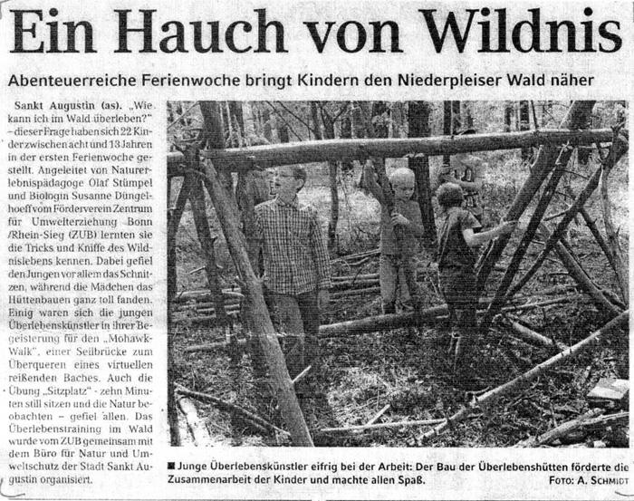 Zeitungsartikel Extra-Blatt, April 2011